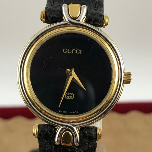 f1c9bc794d4 Vintage Exquisite Ladies Gucci 2 Tone Watch